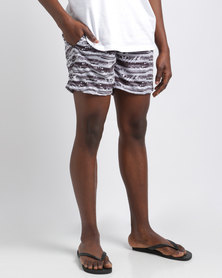 Temple of Reason Earth Swim Shorts Black