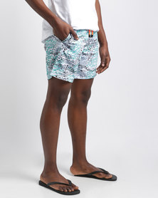 Temple of Reason Air Swim Shorts Turquoise