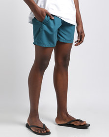 Temple of Reason Shaded Spruce Swim Shorts Teal
