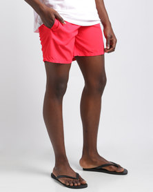 Temple of Reason Tropical Punch Swim Shorts Red