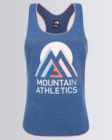 The North Face Graphic Play Hard Tank Blue