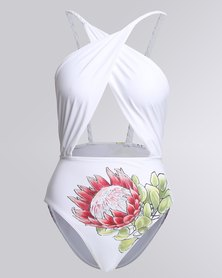 theHive Hand-Painted Protea Full Piece White