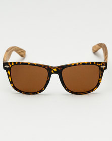 Thisguy. Zebra Wood Fighter Polarized Lens Sunnies Brown