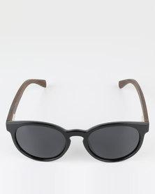 Thisguy. Zebra Wood Fighter Polarized Lens Sunnies Black