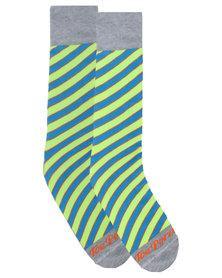Toe Porn Mylie Stripe Socks Green