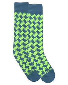 Toe Porn Julie Wafer Socks Green