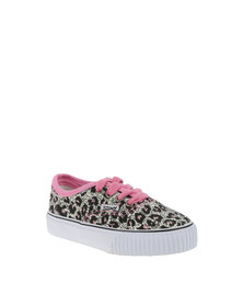 Tomy Kids Leopard Print Sneakers Pink and Grey