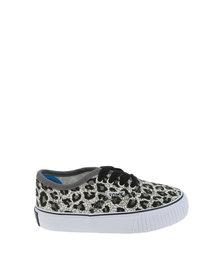 Tomy Kids Leopard Print Sneakers Charcoal