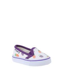 Tomy Takkies Kids Printed Slip-On Shoe White
