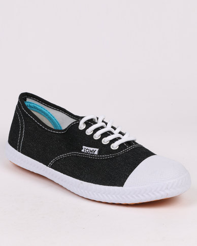 Tomy Takkies Original Toe Cap Denim Black