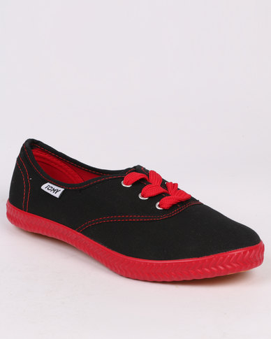 Tomy Takkies Original Neon Black/Red