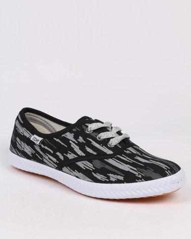 Tomy Takkies Original Lace Up Trend Black Print
