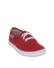Tomy Kids Plimsoll Sneakers Red