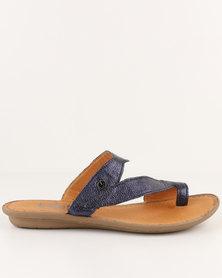 Tslops Elamela Flat Sandal Var 039 Blunotte Metal Grain