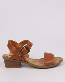 Tsonga Kancono Leather Block Heel Sandal Var 002 Hazel Relaxa