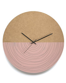 Tydloos Large Spiral Wall Clock Pink