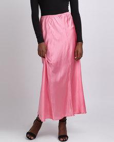 UB Creative Satin Skirt Sleepwear Pink