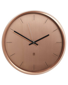 UMBRA Meta Wall Clock 31.8cm Diameter Copper-Tone
