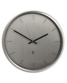 UMBRA Meta Wall Clock 31.8cm Diameter Nickel-tone
