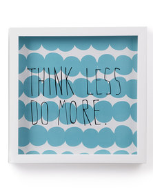 Umbra Think Less Do More Wall Art Turquoise