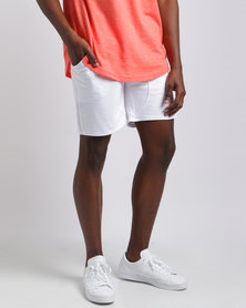Unruly College Shorts White