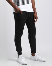 Unruly Drop Crutch Joggers Black