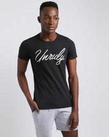 Unruly Logo T-Shirt Black