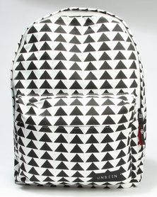 Unseen Triangulate Backpack Black/White