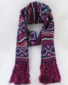 Urban Beach L Knitted Scarf- Regent Pink