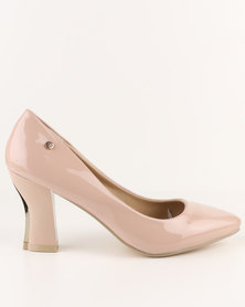 Urban Zone High Heel Court Shoes Nude