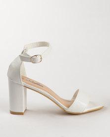 Urban Zone Block Heel Sandal White