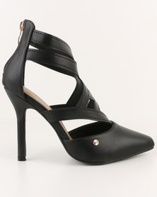 Urban Zone Pointy Heels Black