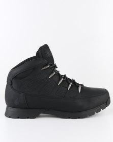 UrbanArt Ski 8 Nub Casual Lace Up Ankle Boot Black