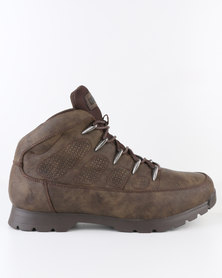 Urbanart Ski 8 Nub Casual Lace Up Ankle Boot Choc