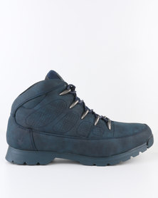 UrbanArt Ski 8 Nub Casual Lace Up Ankle Boot Navy