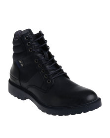 UrbanArt Raw 1 Wax Can Casual Lace Up Ankle Boots Navy