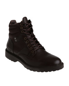 UrbanArt Raw 1 Wax Can Casual Lace Up Ankle Boots Brown