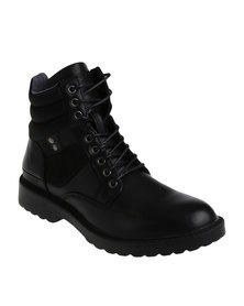 UrbanArt Raw 1 Wax Can Casual Lace Up Ankle Boots Black