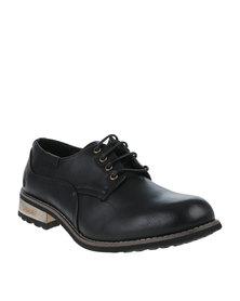 Urbanart Vivlite 15 Wax Casual Lace Up Shoe Black