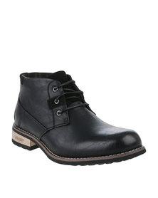 Urbanart Vivlite 11 NUB Casual Lace Up Ankle Boots Black