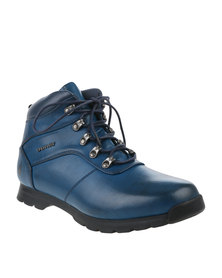 Urbanart Ski 7 Wax Casual Lace Up Ankle Boots Navy