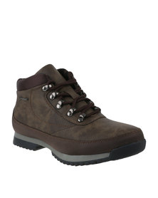 Urbanart Crocco 4 Nub Can Casual Lace Up Ankle Boots Brown