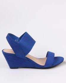 Utopia Elastic Wedge Sandal Blue