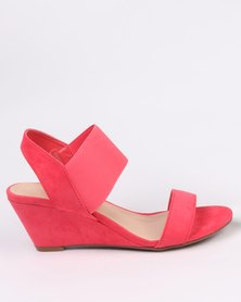 Utopia Elastic Wedge Sandal Pink