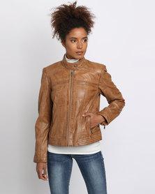 Utopia Leather Jacket Tan