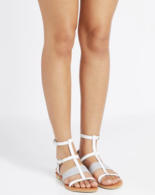 Utopia Leather & Elastic Gladiators White