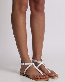 Utopia Leather Thong Sandal White