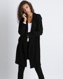 Utopia Knit Wrap Coat Black
