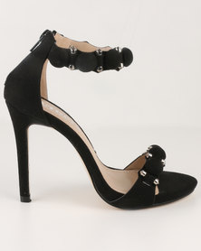 Utopia Embellished Heel Sandals Black