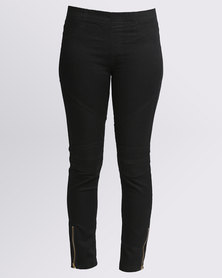 Utopia Biker Jeggings Black